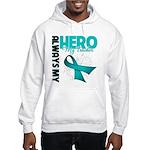 Ovarian Cancer Hero Teacher Hooded Sweatshirt