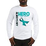 Ovarian Cancer Hero Teacher Long Sleeve T-Shirt
