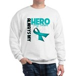 Ovarian Cancer Hero Teacher Sweatshirt