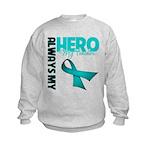Ovarian Cancer Hero Teacher Kids Sweatshirt