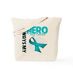 Ovarian Cancer Hero Teacher Tote Bag