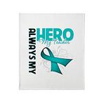 Ovarian Cancer Hero Teacher Throw Blanket