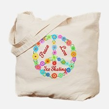 Ice Skating Peace Sign Tote Bag