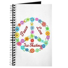 Ice Skating Peace Sign Journal
