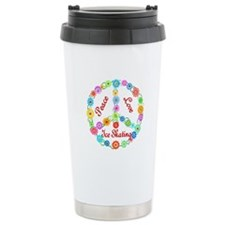 Ice Skating Peace Sign Travel Mug