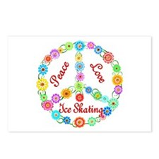 Ice Skating Peace Sign Postcards (Package of 8)