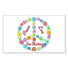 Ice Skating Peace Sign Decal