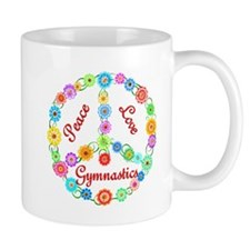 Gymnastics Peace Sign Mug