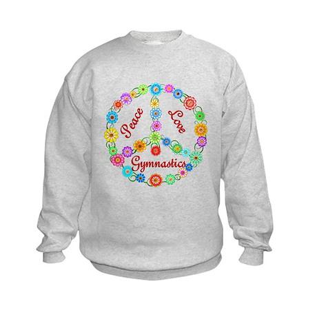 Gymnastics Peace Sign Kids Sweatshirt