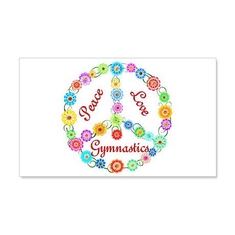 Gymnastics Peace Sign 22x14 Wall Peel