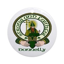 Donnelly Clan Motto Ornament (Round)