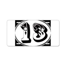 Cool Number 13 Aluminum License Plate
