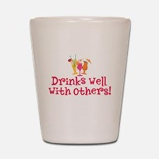 Drinks Well With Others - Shot Glass