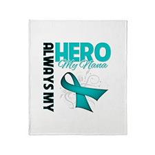 Ovarian Cancer Hero Nana Throw Blanket