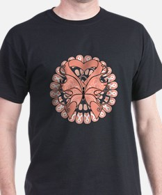 Uterine Cancer Butterfly T-Shirt