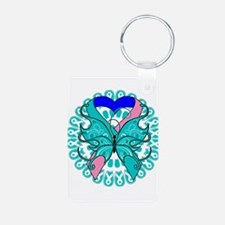 Thyroid Cancer Butterfly Keychains