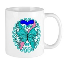 Thyroid Cancer Butterfly Mug