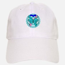 Thyroid Cancer Butterfly Baseball Baseball Cap