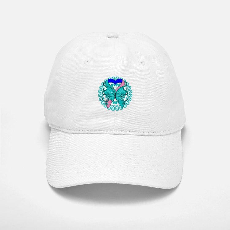 Thyroid Cancer Butterfly Baseball Baseball Cap