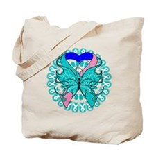 Thyroid Cancer Butterfly Tote Bag