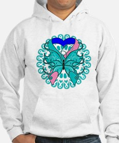 Thyroid Cancer Butterfly Hoodie
