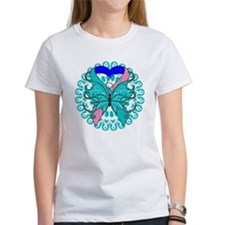 Thyroid Cancer Butterfly Tee