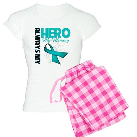 Ovarian Cancer Hero Mommy Women's Light Pajamas