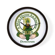 Donovan Clan Motto Wall Clock