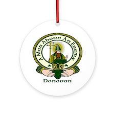 Donovan Clan Motto Ornament (Round)