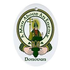 Donovan Clan Motto Oval Ornament