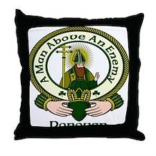 Donovan Clan Motto Throw Pillow
