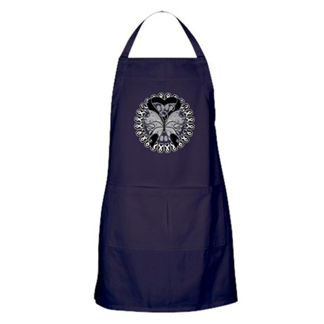 Skin Cancer Butterfly Apron (dark)