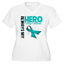 Ovarian Cancer Hero Mom T-Shirt