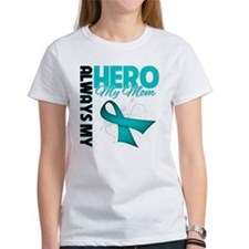 Ovarian Cancer Hero Mom Tee