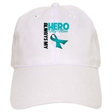 Ovarian Cancer Hero Mom Baseball Cap