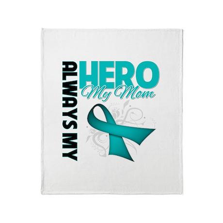 Ovarian Cancer Hero Mom Throw Blanket