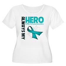 Ovarian Cancer Hero Grandmother T-Shirt