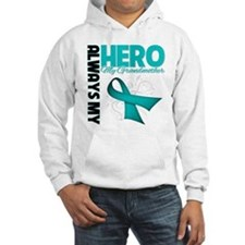 Ovarian Cancer Hero Grandmother Jumper Hoody