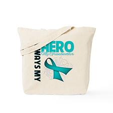Ovarian Cancer Hero Grandmother Tote Bag