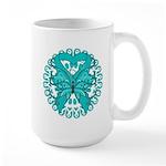 Ovarian Cancer Butterfly Large Mug