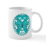 Ovarian Cancer Butterfly Mug