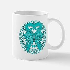 Ovarian Cancer Butterfly Small Small Mug