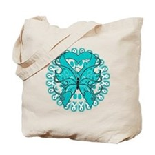 Ovarian Cancer Butterfly Tote Bag