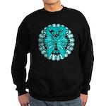 Ovarian Cancer Butterfly Sweatshirt (dark)