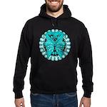Ovarian Cancer Butterfly Hoodie (dark)