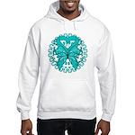 Ovarian Cancer Butterfly Hooded Sweatshirt