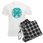 Ovarian Cancer Butterfly Men's Light Pajamas
