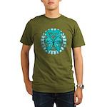 Ovarian Cancer Butterfly Organic Men's T-Shirt (da