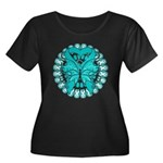 Ovarian Cancer Butterfly Women's Plus Size Scoop N