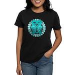 Ovarian Cancer Butterfly Women's Dark T-Shirt